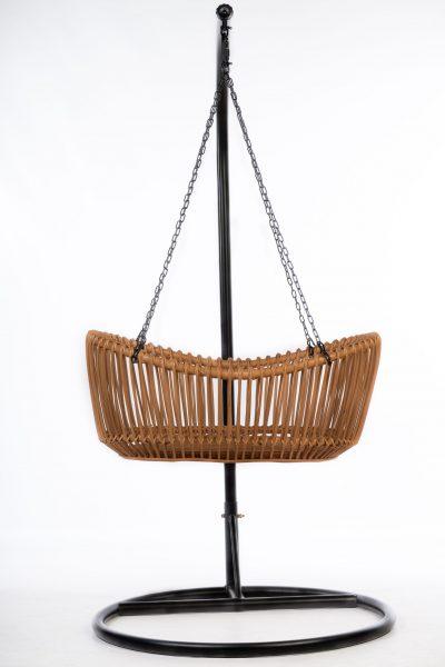 Bohemian Baby hanging bassinet hangwieg Vintage zijaanzicht 2