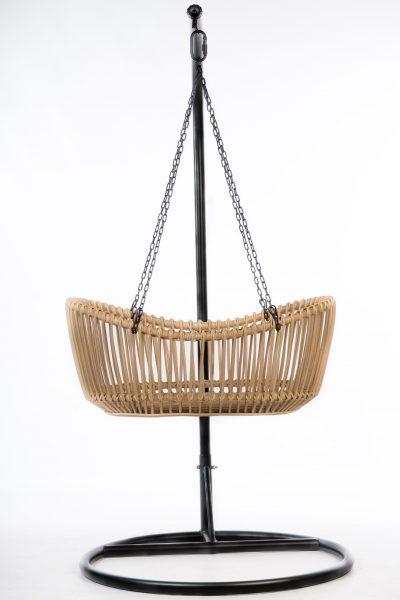 Bohemian Baby hanging bassinet hangwieg natural zijaanzicht 2