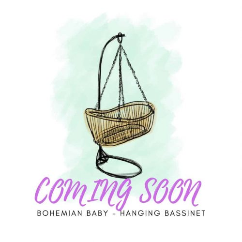 Bohemian baby hanging bassinet hang wieg